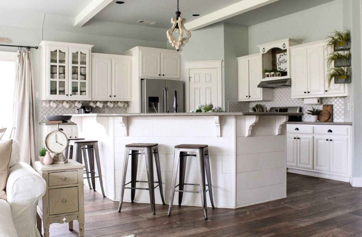 how to pick foolproof farmhouse paint colors kitchen colors kitchen remodel farmhouse on farmhouse kitchen wall colors id=37186