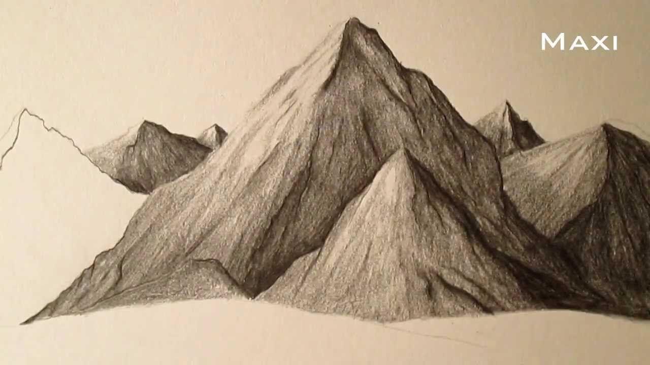 Como Dibujar Montanas A Lapiz Paso A Paso Como Aprender A Dibujar Paisajes Como Dibujar Montanas Como Aprender A Dibujar Paisaje A Lapiz