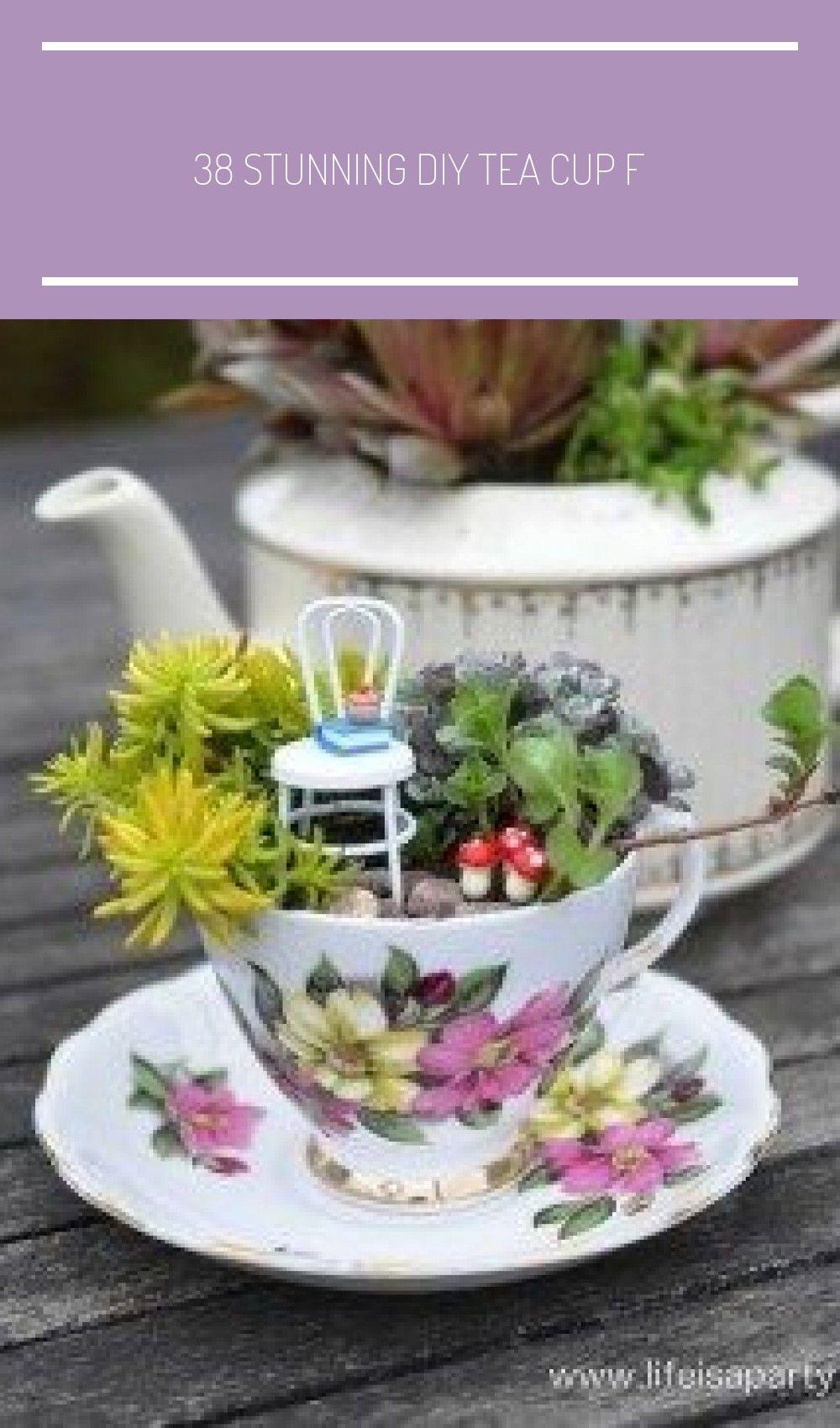 38 Stunning Diy Tea Cup Fairy Garden Ideas Hoomdesign Giardino In Miniatura Fai Da Te 38 Stunning Diy Tea Cup Fa Tea Cups Diy Tea