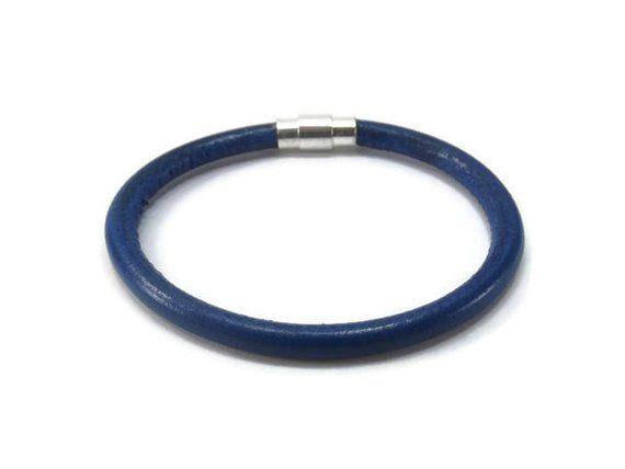Thin Blue Line Bracelet Lives Leather