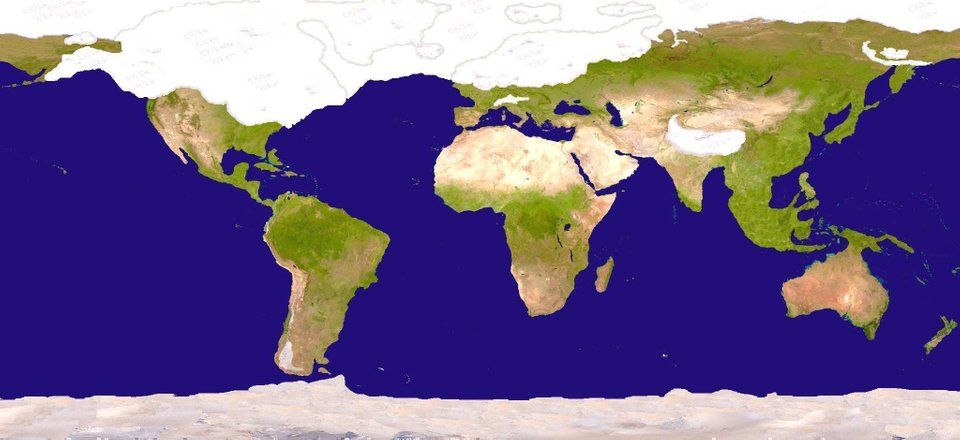 Map Of The Ice Age Mapporn Ice Age Map Age