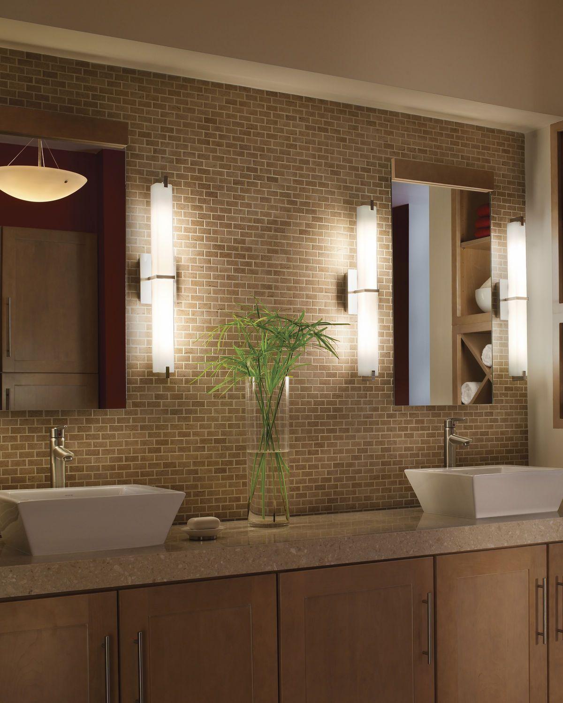 Bathroom lighting bath design pinterest contemporary wall