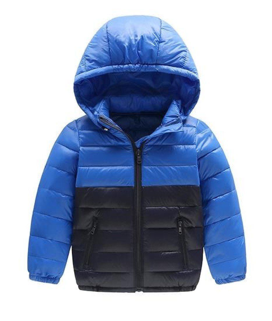 Yayu Men Hooded Lightweight Puffer Coat Outerwear Packable Down Jacket