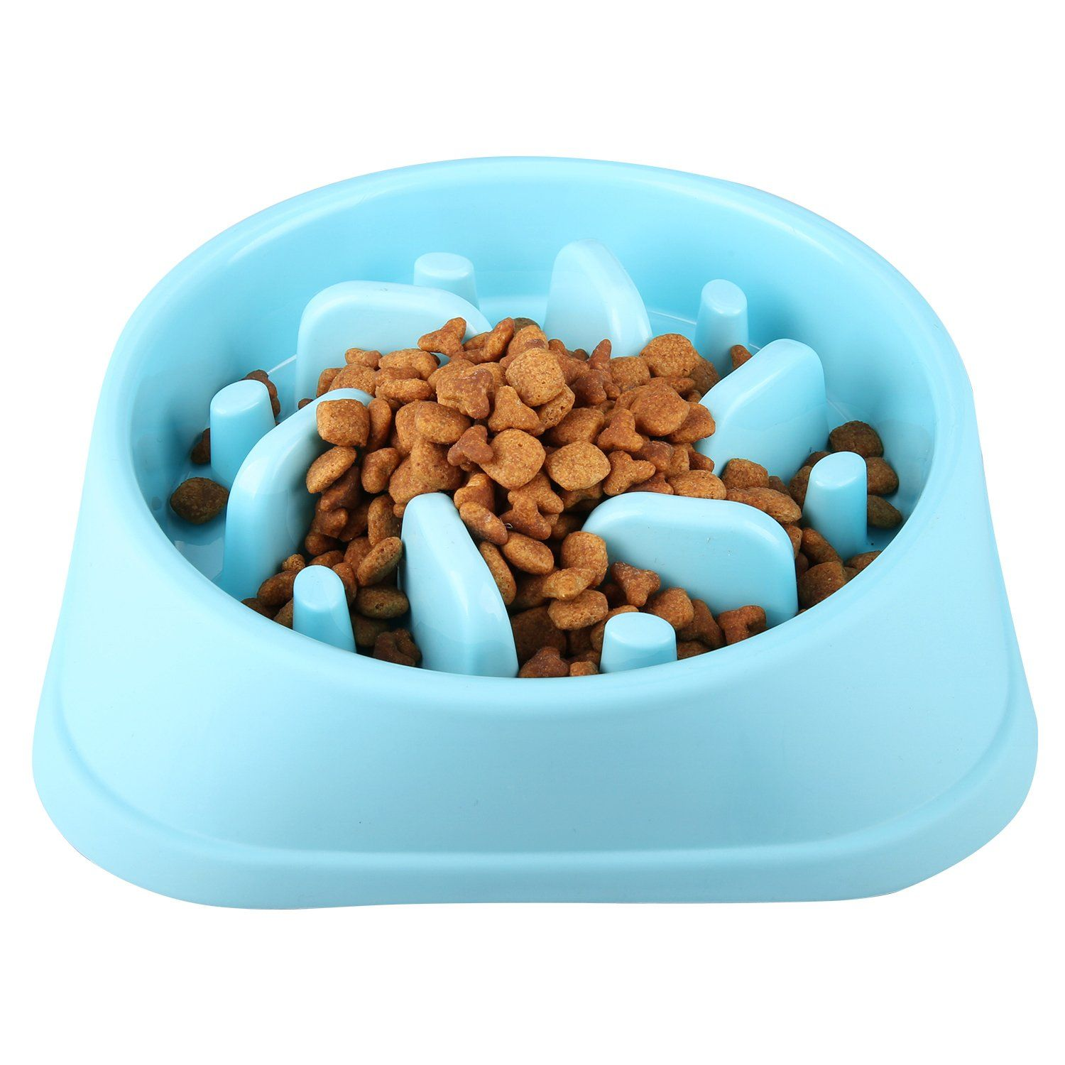 Wangstar Pet Slow Feeder Bowl Bloat Stop Dog Puzzle Bowl Maze