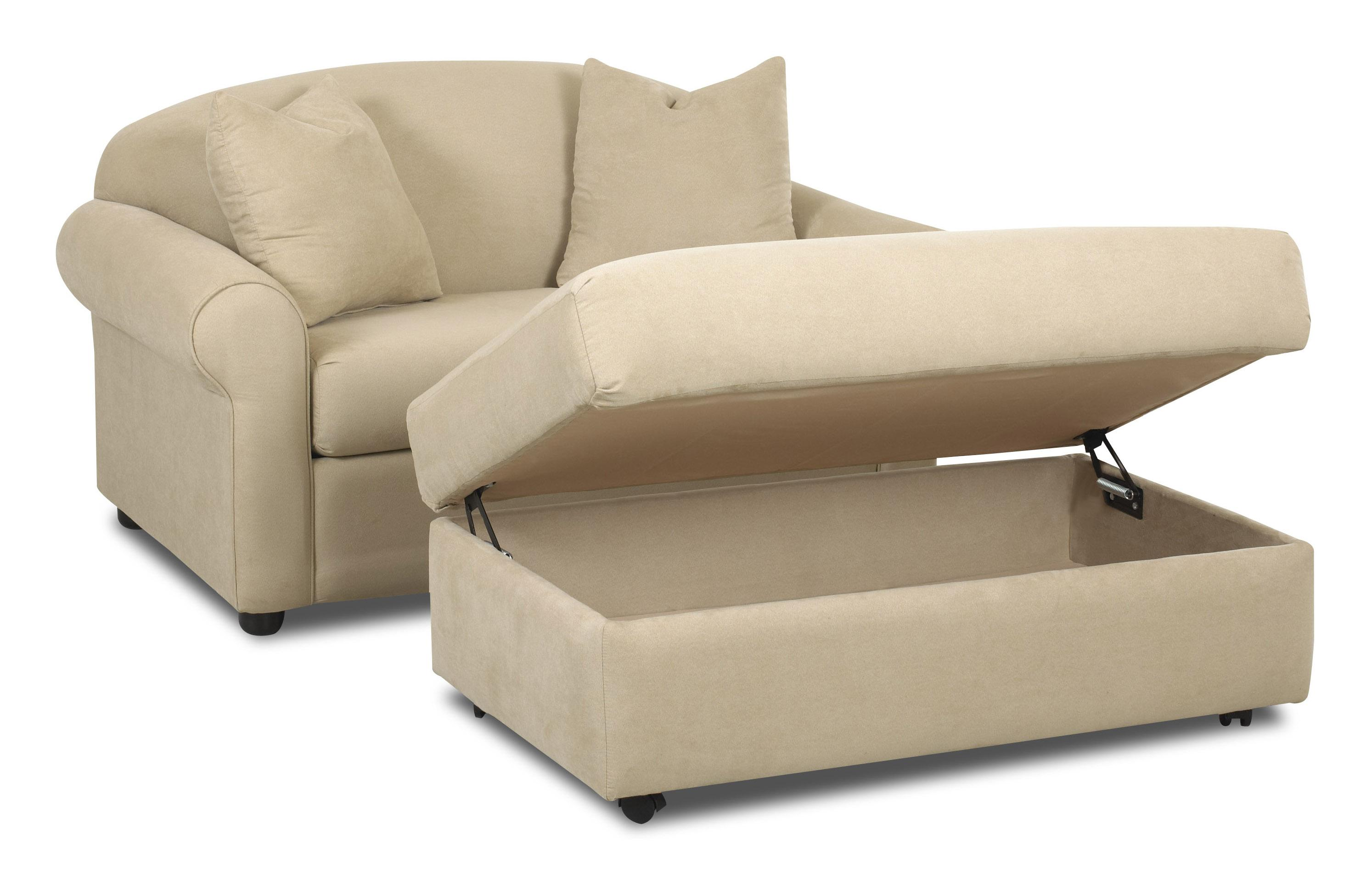 Possibilities Chair Sleeper And Storage Ottoman Set By Klaussner Leather Chaise Lounge Chair Furniture Chair