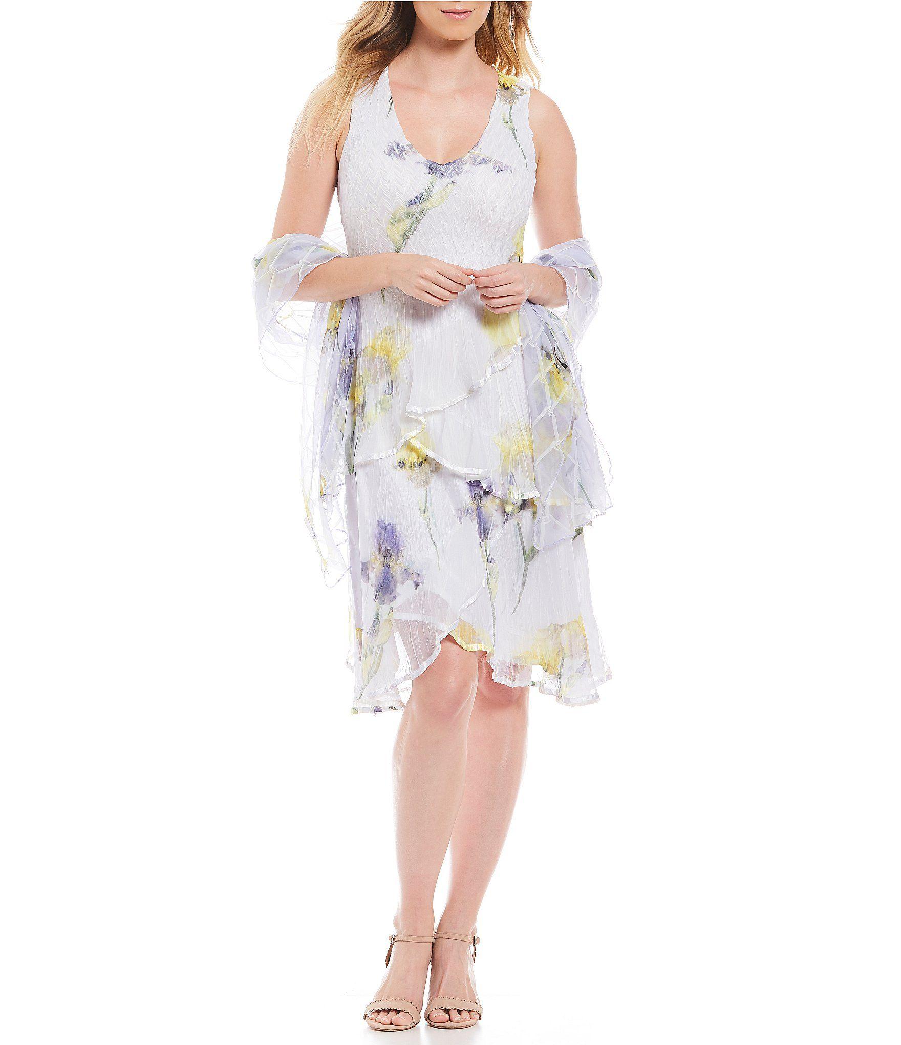 Wedding dresses dillards  Komarov Daffodil Floral Print Tiered Gown  Dillards  Mother Of The