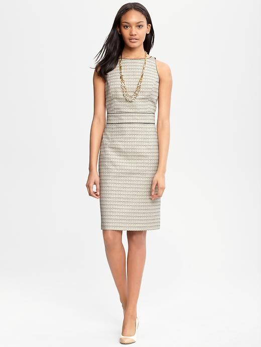 Banana Republic Summer Sheath Dress -It's form-fitting, but the ...