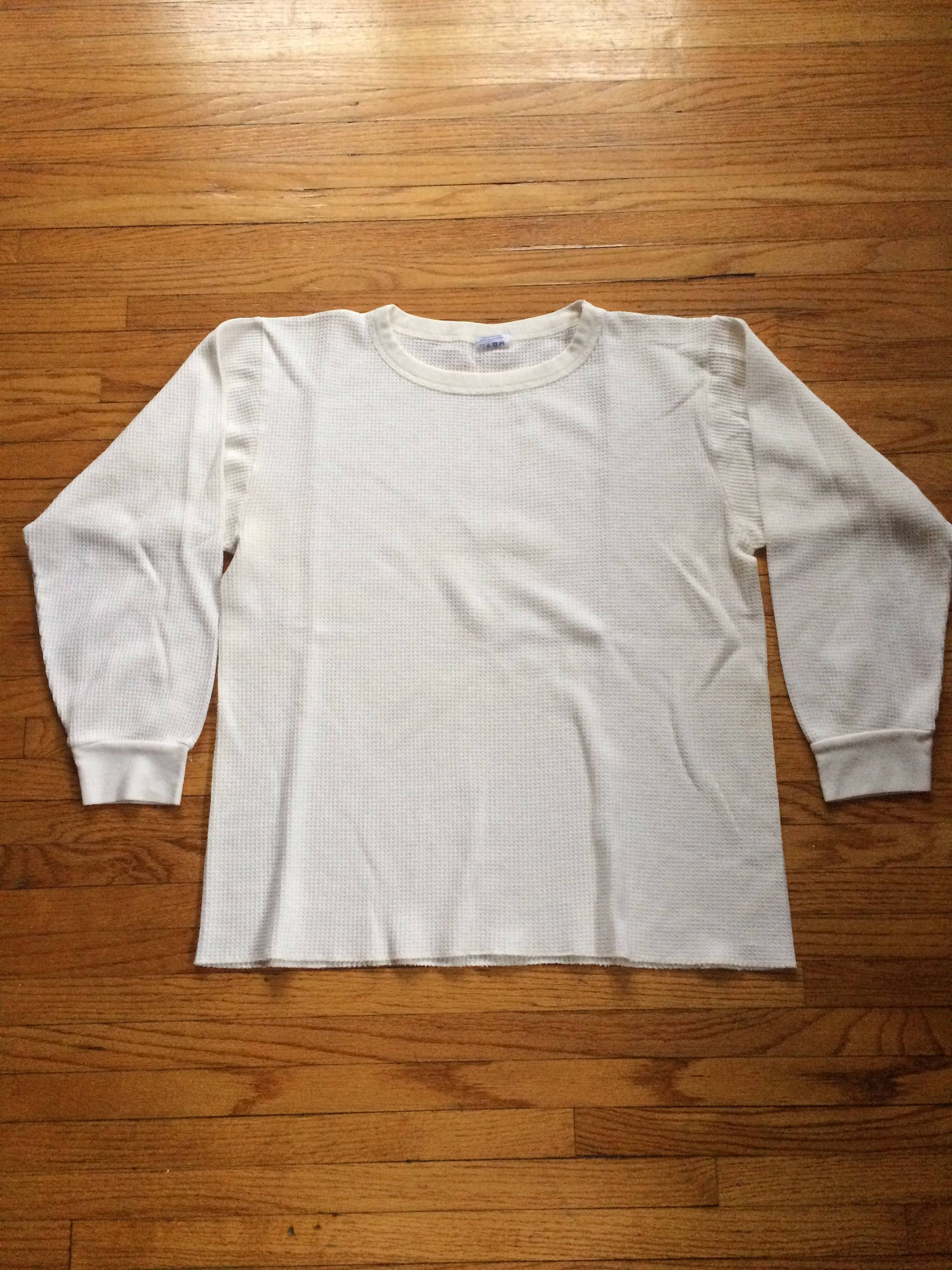 Vintage Fruit of the Loom White Long Sleeve Thermal Top by