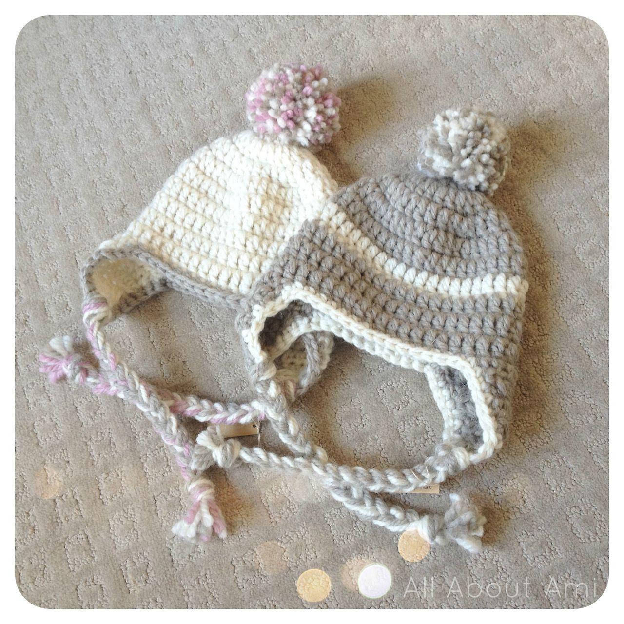 Baby Pom Pom Earflap Hats