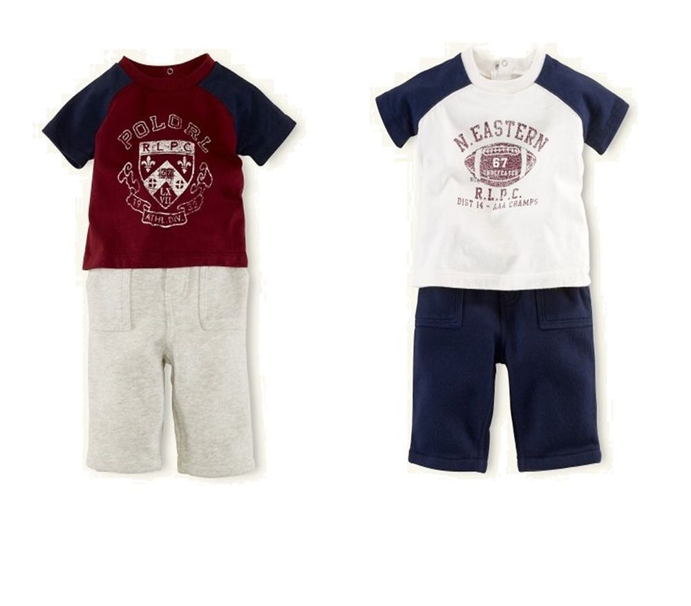 Nwt ralph lauren baby boys polo graphic short sleeves