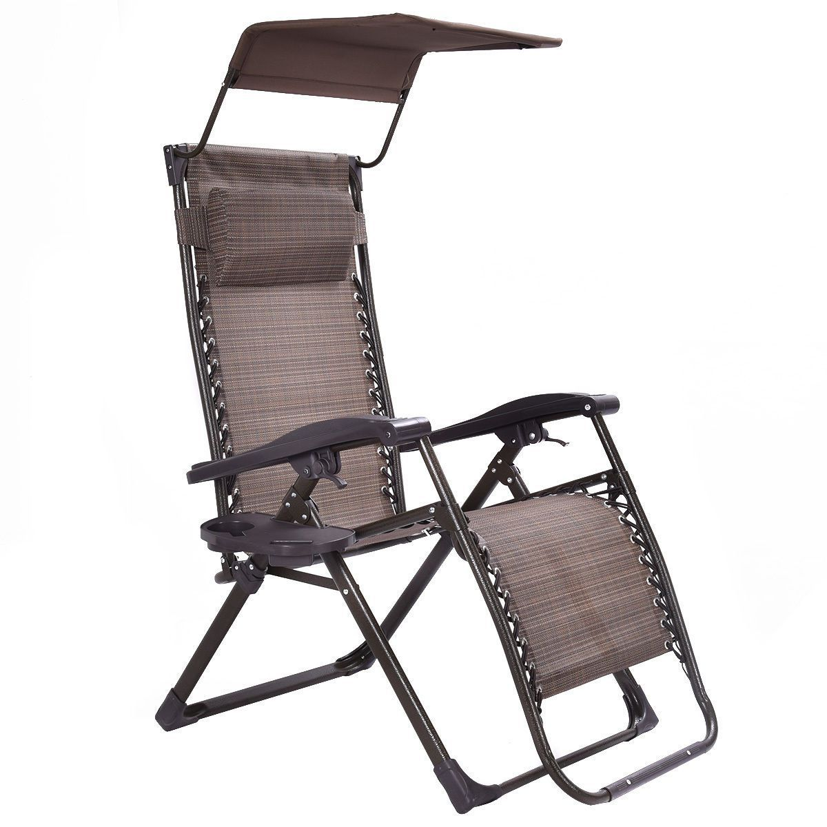 Folding Zero Gravity Reclining Outdoor Chair With Canopy Usd 129 99 Bododa Bododastore Fur Zero Gravity Chair Outdoor Reclining Outdoor Chair Garden Chairs