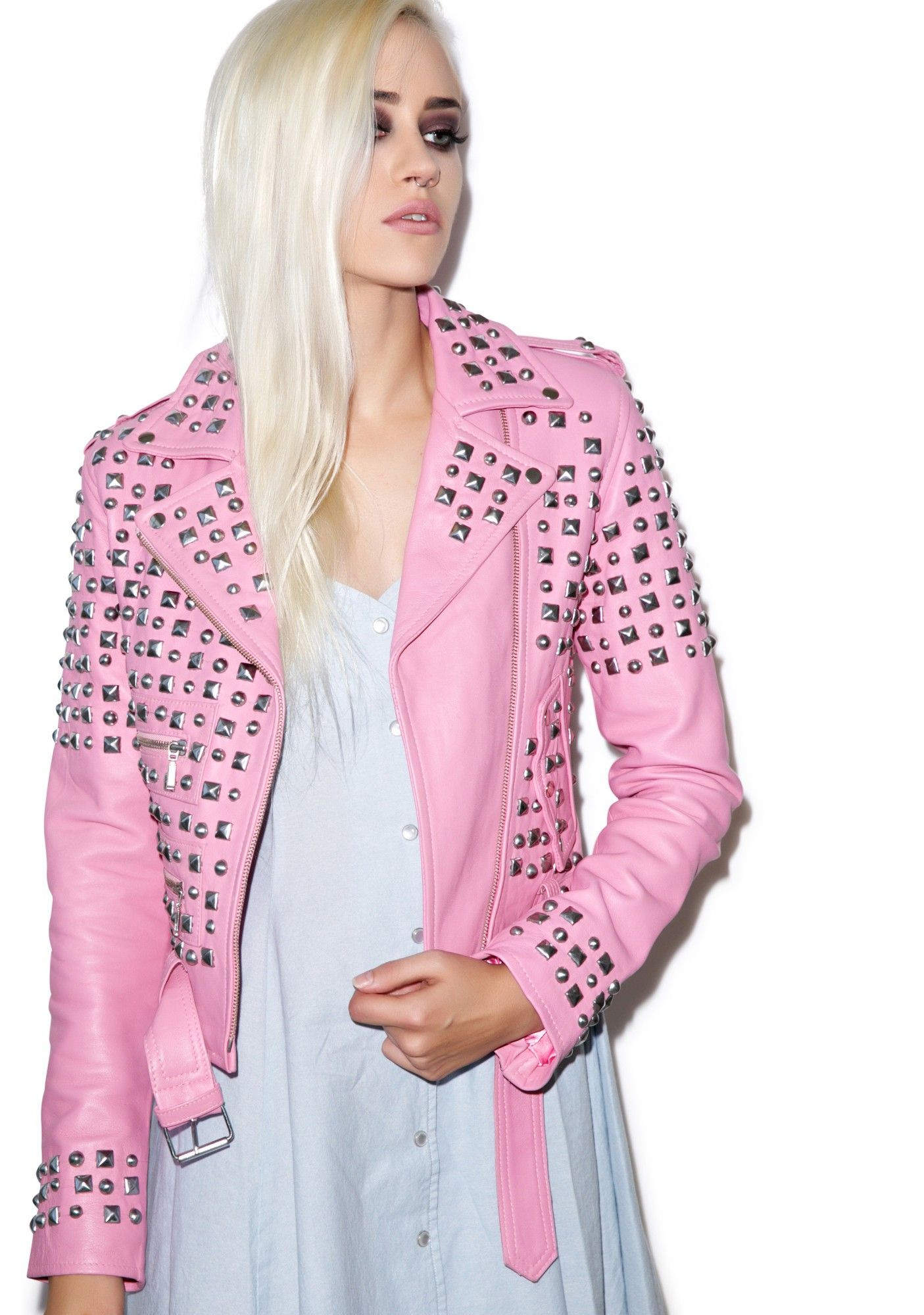 Studded Leather Jacket | Studded leather, Studded jacket and ...