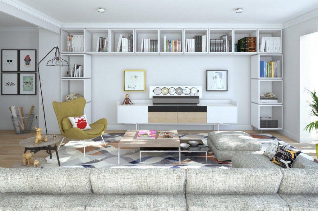 Particular Residence | Madrid | September 2015 #rendering #render #interior #interiordesign #decoraction #residence #livingroom