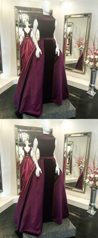 Unique aline bateau sleeveless burgundy long promevening dress