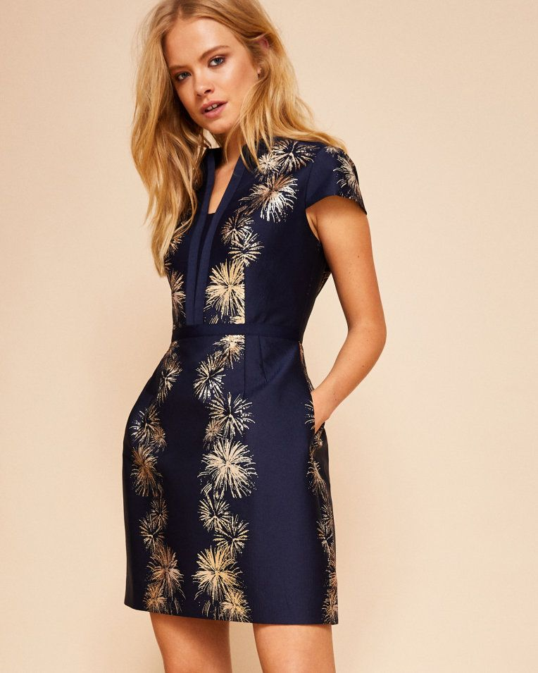 f21633ed4 Stardust jacquard dress - Dark Blue