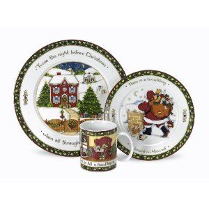 Amazon Com Melange Rouge Christmas Ceramic 16 Piece Place Setting White Serving For 4 Christmas Dinnerware Sets Christmas Dinner Plates Christmas Dinnerware