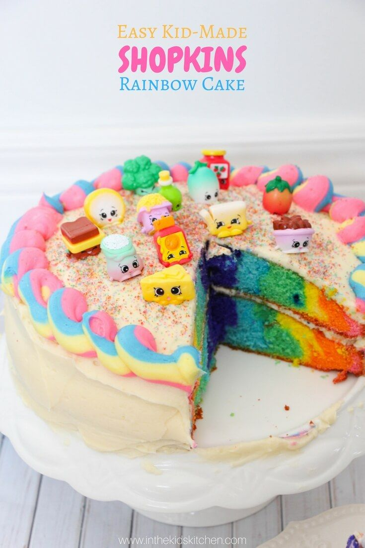 Prime Rainbow Shopkins Cake Recipe Simple Birthday Cake Shopkins Cake Funny Birthday Cards Online Elaedamsfinfo