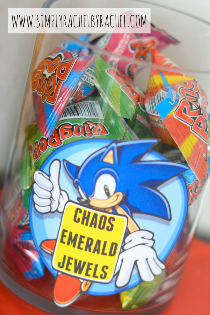 Sonic Party Snacks Chaos Emeralds Sonic Birthday Parties Sonic Birthday Hedgehog Birthday