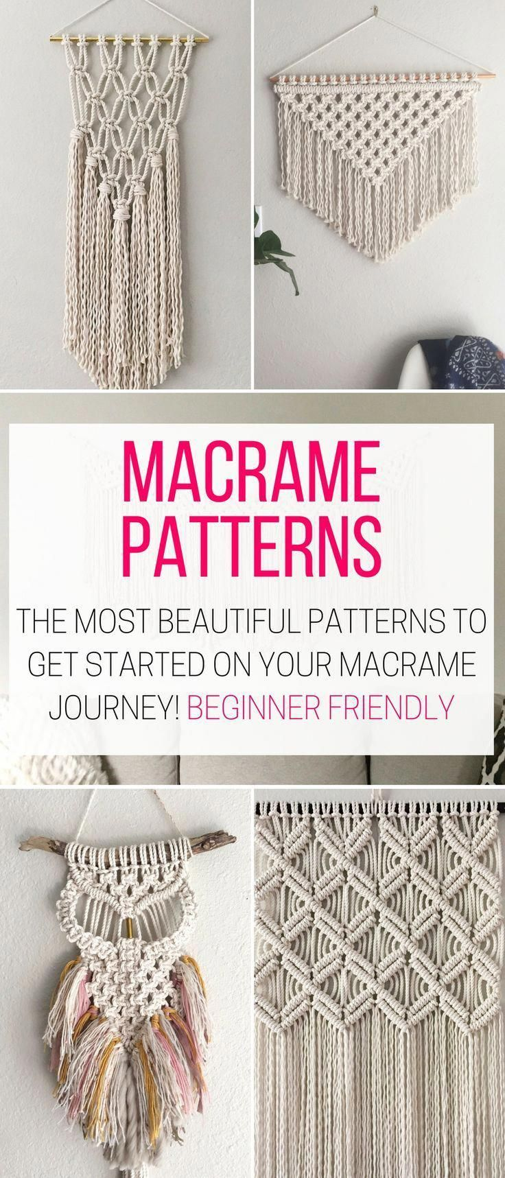 I Found These Diy Macrame Wall Hanging Patterns And I Want To Try Make One For My Bedro Macrame Wall Hanging Patterns Macrame Patterns Macrame Wall Hanging Diy