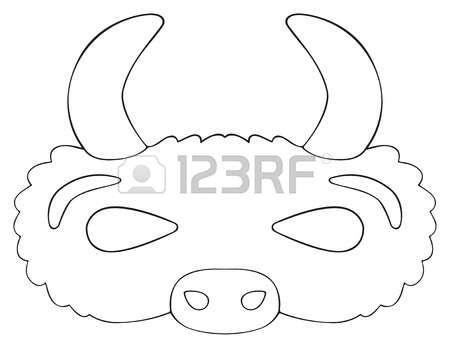Resultado de imagen para mascara de bufalo para colorear   Agri ...