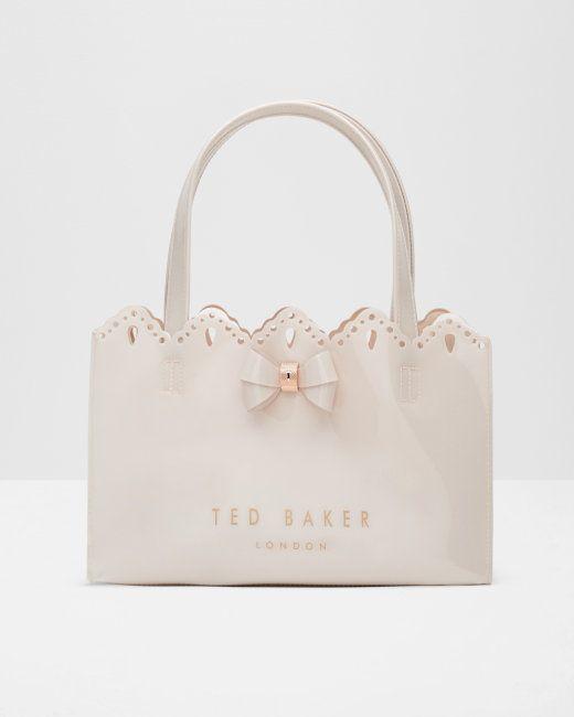 0cfd743f336919 Scalloped edge shopper bag - Pale Pink