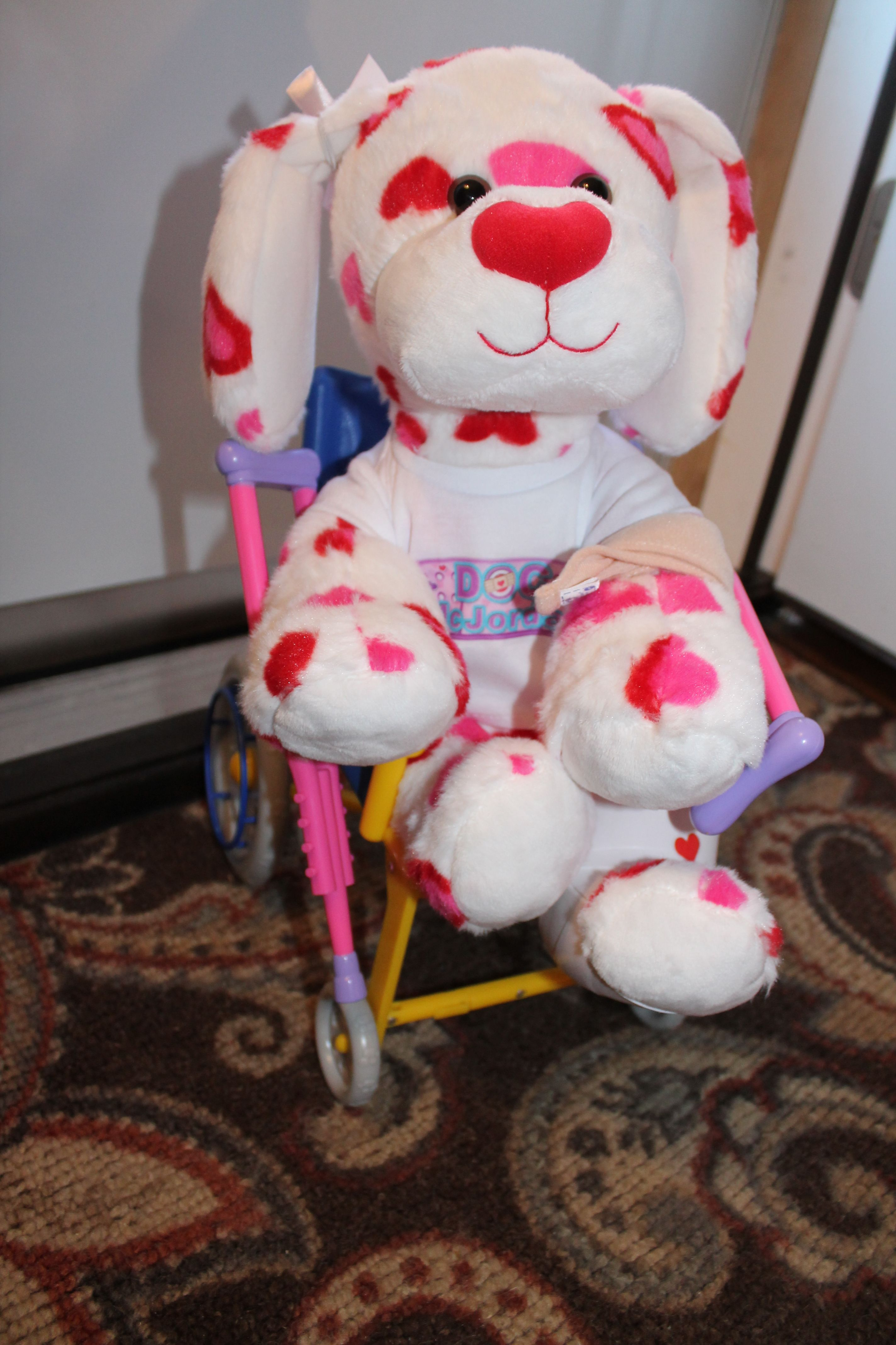 Build a bear completed at doc mcstuffins party wearing
