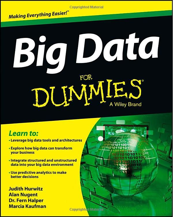 Big Data For Dummies (For Dummies (Computers)) Judith Hurwitz, Alan - business modelling using spreadsheets