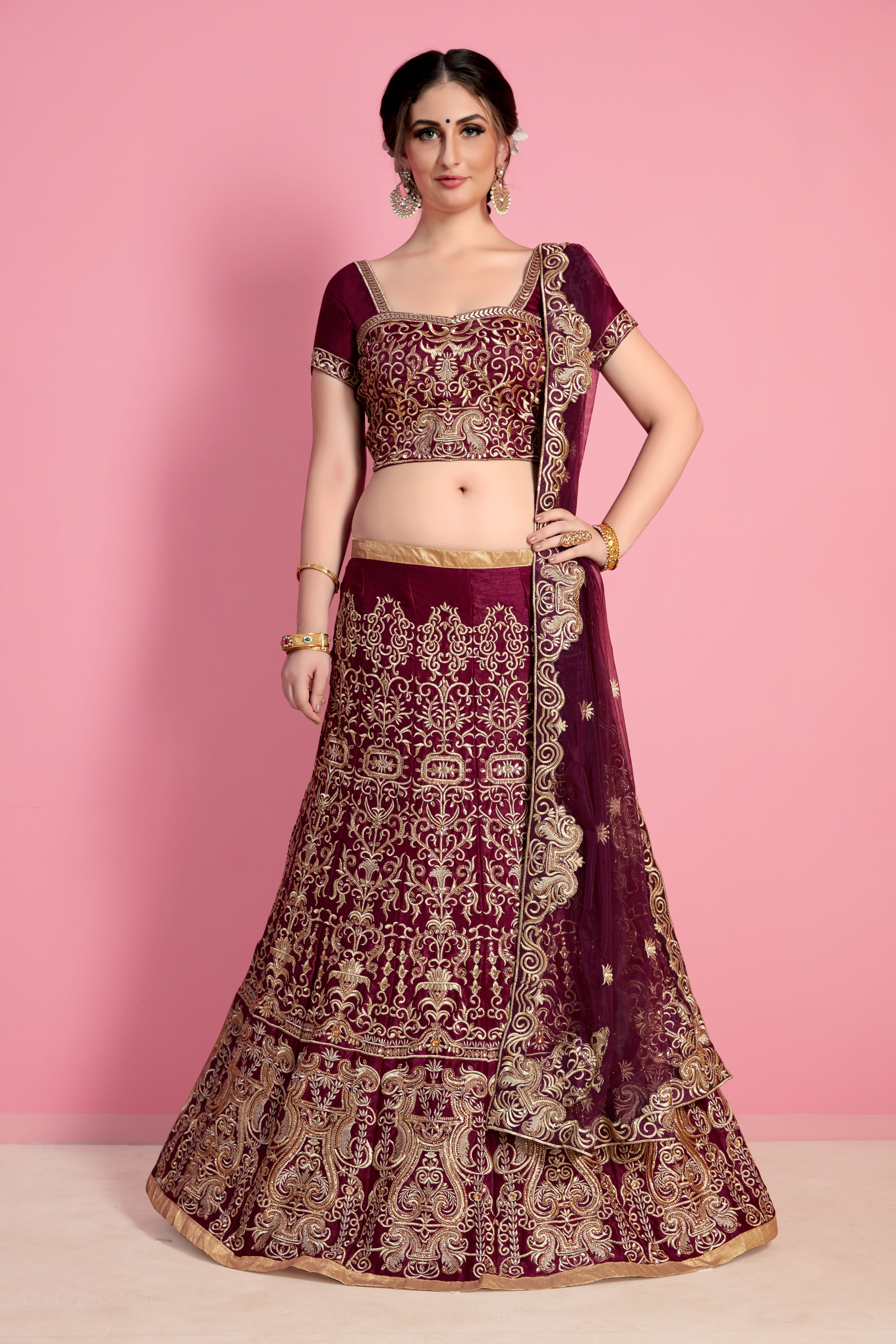 18e610c2864ab Buy Indian wedding lehengas with varieties of designs and collection for  women on best occasions at discount prices. Fabric Silk  Velvet Color ...