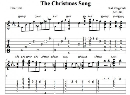 Nat King Cole S Christmas Song Guitar Chords Melody Tab Video Lessons Guitar Lessons Songs Guitar Chords Songs