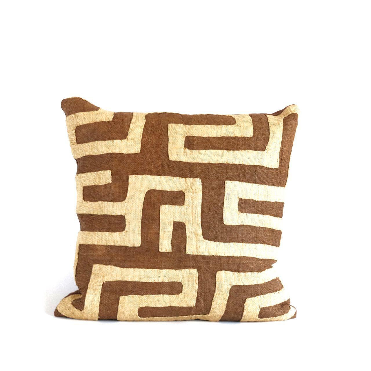 Appliqué Kuba Cloth Pillows - The Loaded Trunk