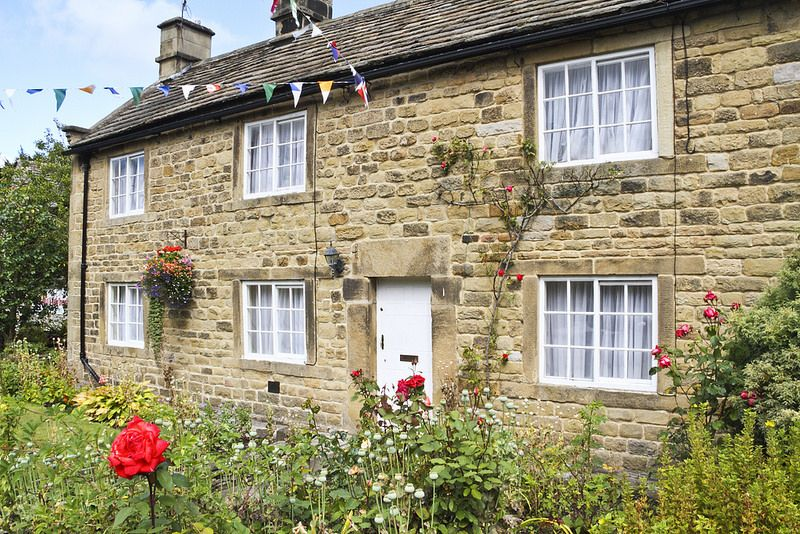 Here is a photograph taken from the Rose Cottage.  Located in Eyam, Derbyshire, England, UK.