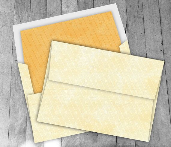 yellow arrow a7 envelope digital 5x7 diy printable kit