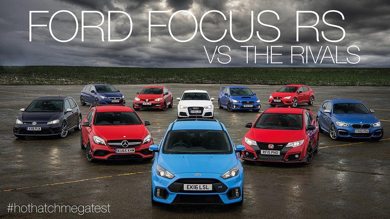 Ford focus rs vs honda civic type r vs audi rs3 vs mercedes amg