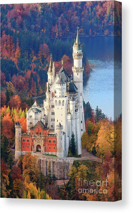 Neuschwanstein - Germany Canvas Print / Canvas Art by Henk Meijer Photography #castles