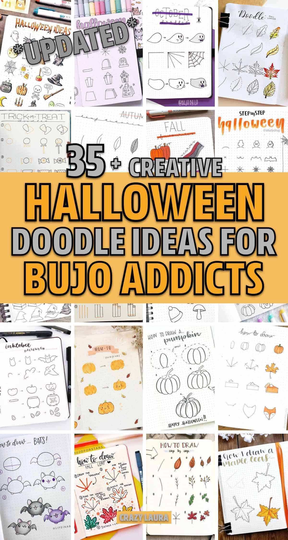 The best free halloween ecards found online. Best Bullet Journal Doodle Ideas For Halloween & Fall 2021 - Crazy Laura | Bullet journal ...