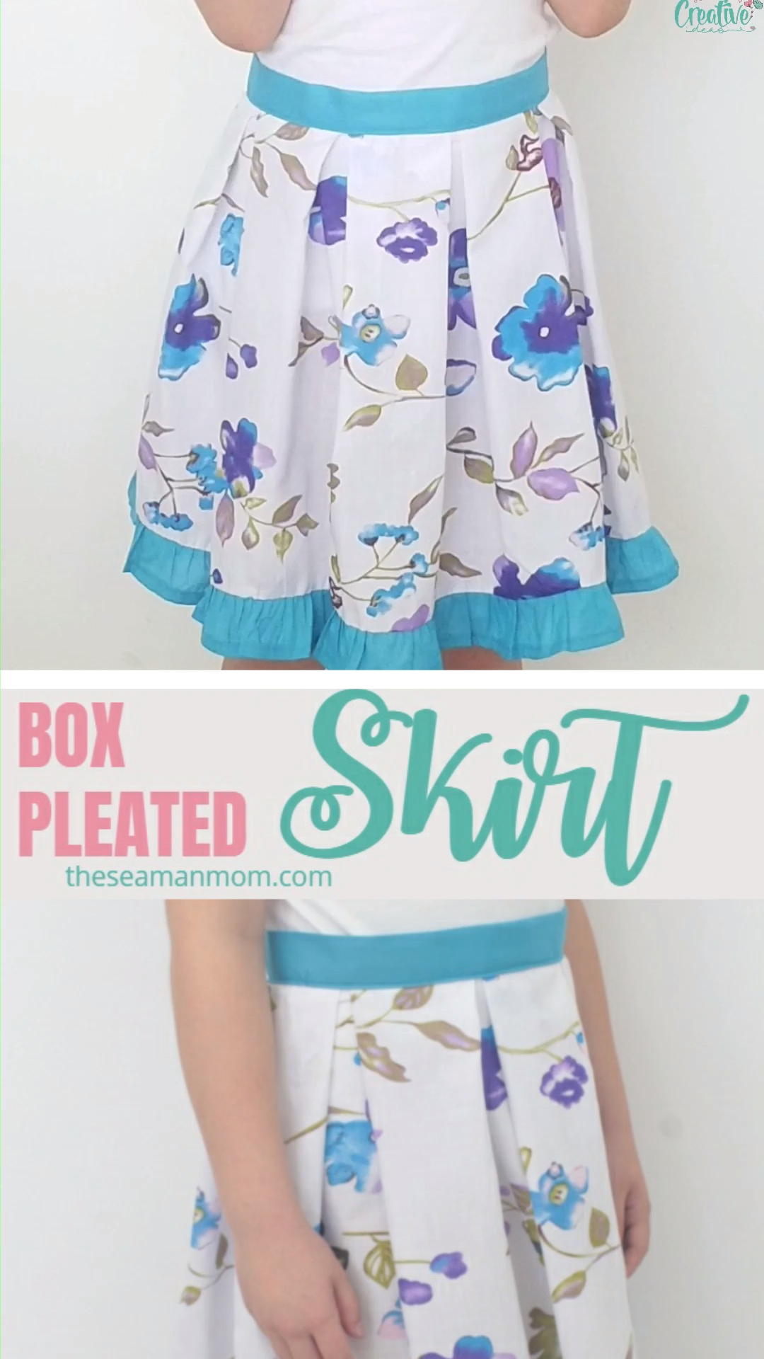 Photo of BOX PLEATED SKIRT SEWING TUTORIAL