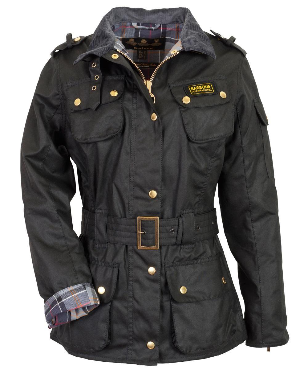 5c2f0872beeed Barbour International Women s International Wax Jacket - Black LWX0003BK51…