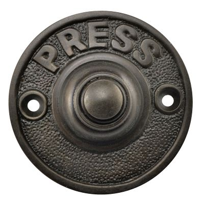 Bronze Doorbell Push On Clic