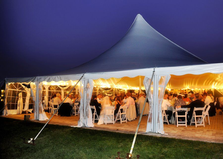 Wedding At White Cliffs In Plymouth MA The Tent Is Nicely Lit Up Night