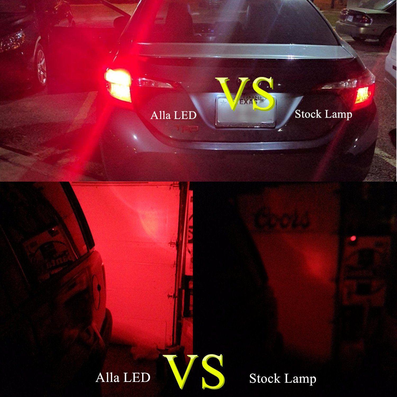 Alla Lighting 7440 7443 Led Brake Stop Tail Lights Bulbs Super Bright T20 Wedge Led 7440 7443 Bulb 39 Smd High Power 2835 Chipse Light Bulb Bulb Led Fog Lights