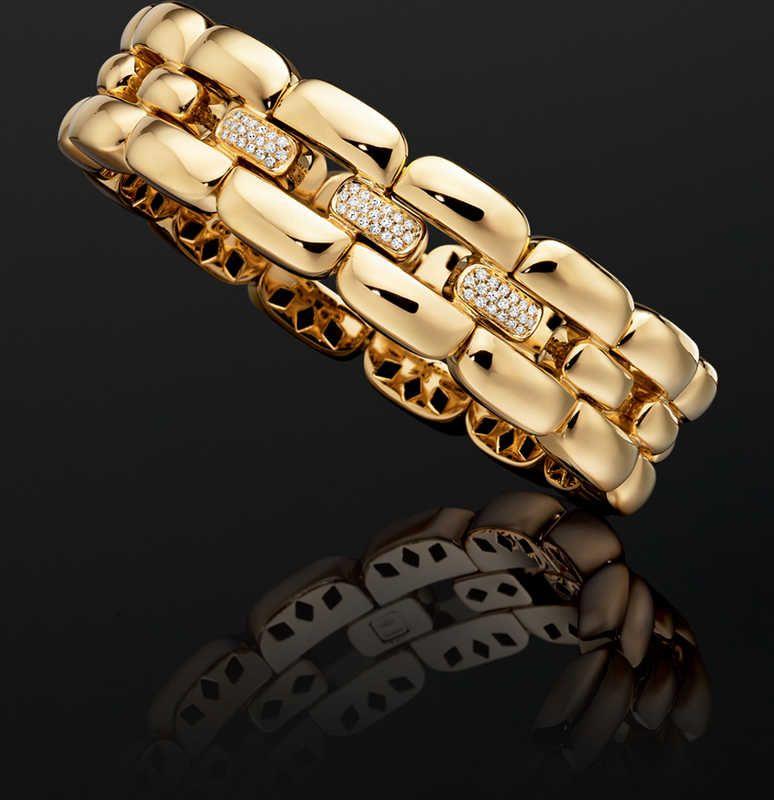cf875e102bbdbc Diamond Bracelet in 18k Yellow Gold | 1BADX2716 | New Holiday ...