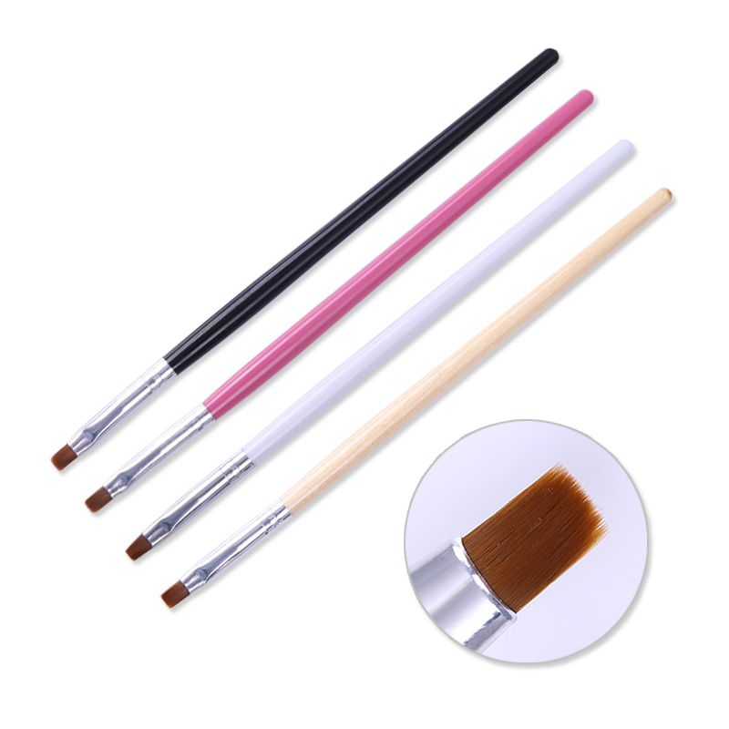 1Pc Powder Dust Clean Up Drawing Brush Flat Cuticle Cleaning Pen ...