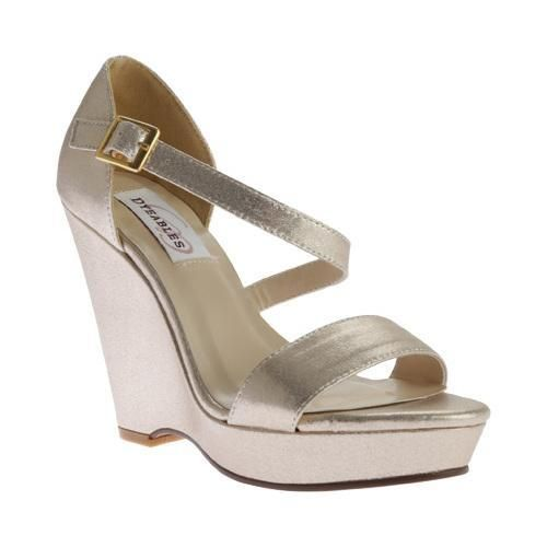 Women's Dyeables Karen Strappy Wedge Sandal Nude Shimmer | Products |  Pinterest | Outlet store and Products