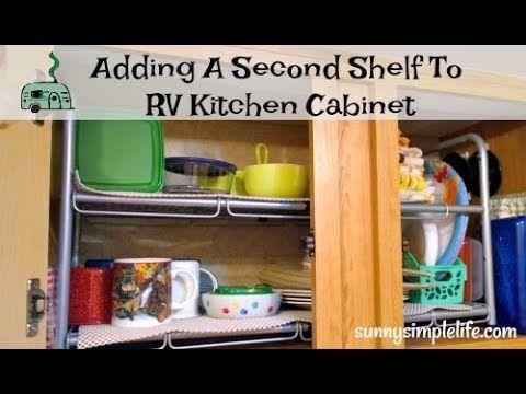 Adding a Second Shelf To RV Kitchen Cabinet | Basket ...
