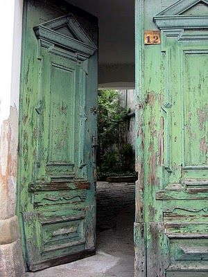 Very cool old doors, dying to go explore that inner courtyard.:)