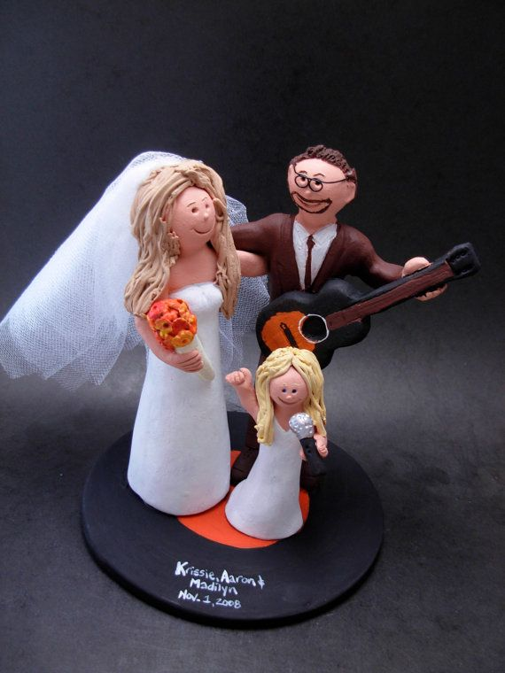 Blended Family Wedding Cake Topper With Kids 2nd Marriage CakeTopper Childrenfamily