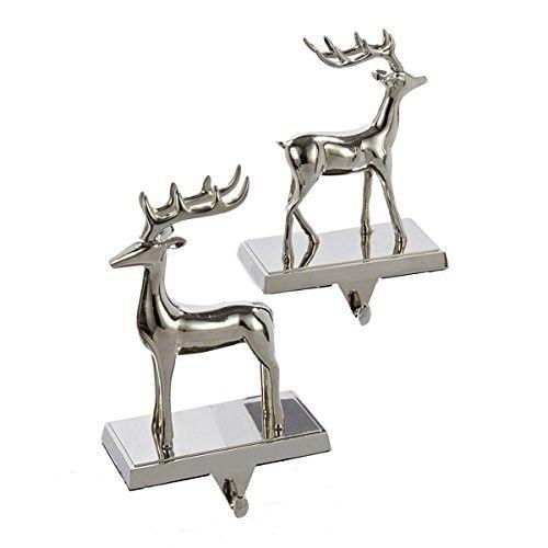 Set of Reindeer Christmas Stocking Hangers