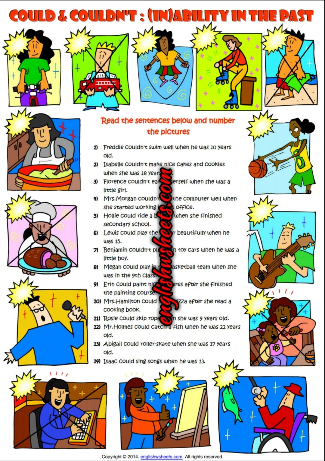 Could Or Couldn T Expressing Ability And Inability In The Past Esl Printabl English Worksheets For Kids Third Grade Vocabulary Activities Life Skills Classroom [ 1528 x 1080 Pixel ]