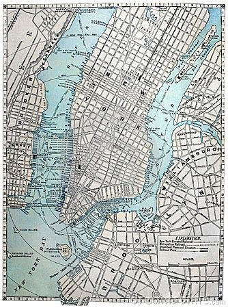 old street map of new york city httpwwwdreamstimecomroyalty free stock photos old street map new york city image11693918