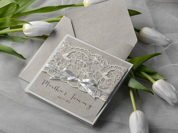 1000 images about invitaciones boda de plata on pinterest embossed wedding invitations invitations and wedding invitation lace - Faire Part Mariage Etsy